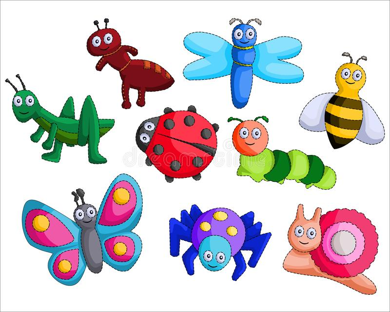 Cartoon bug vector Design set vector illustration