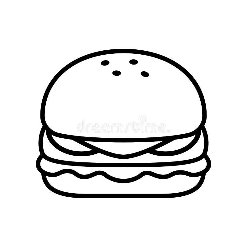 Cartoon Burger Icon Emoji Illustration Isolated Stock Illustration