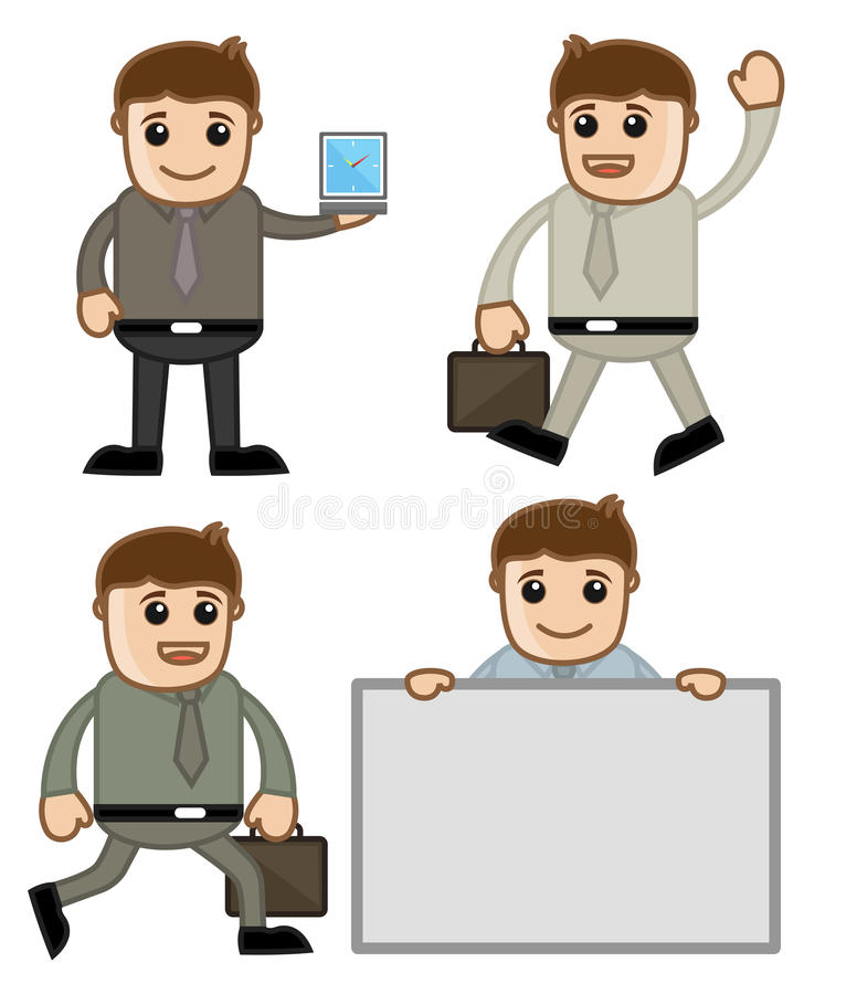 Download Cartoon Business People stock vector. Image of manager - 32656992