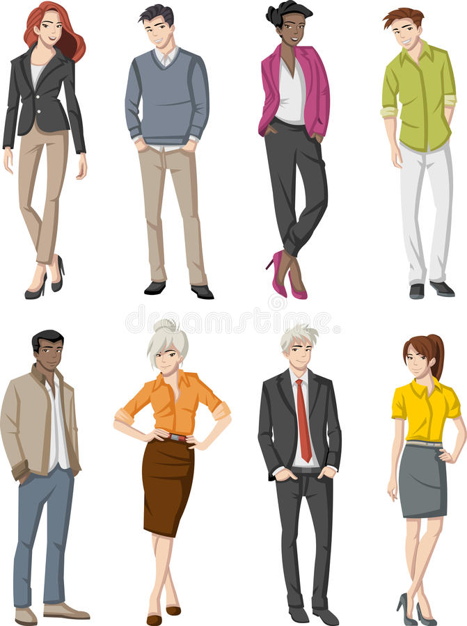 Cartoon business people vector illustration