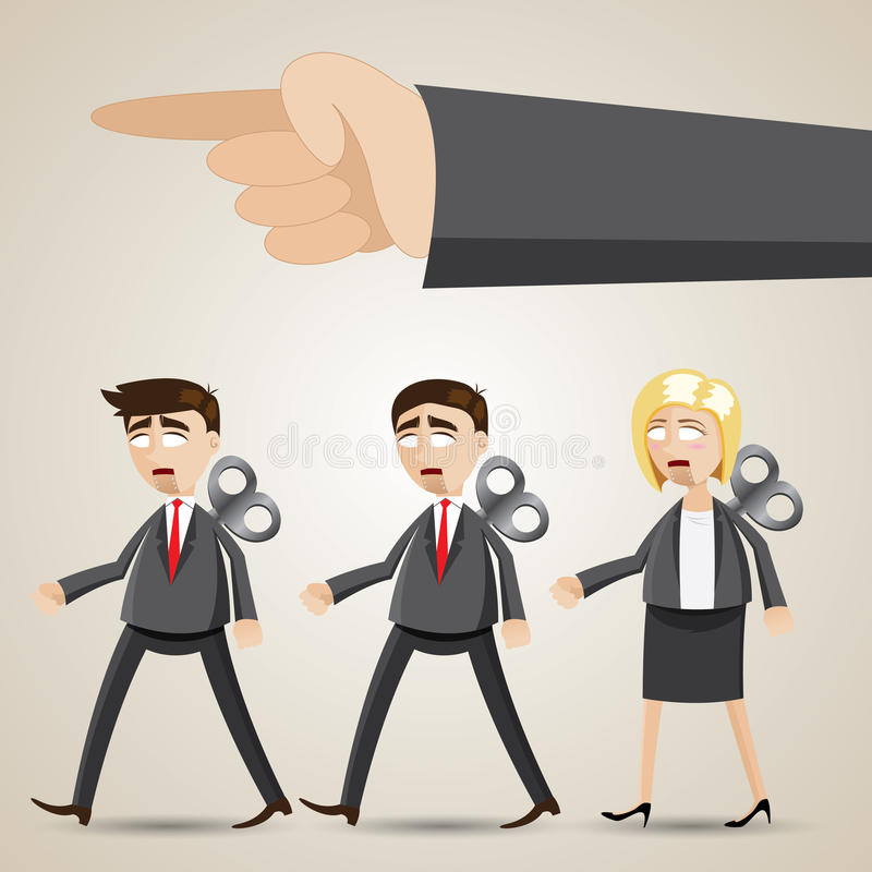 Free Cartoon Business Robot Team Walk Together Royalty Free Stock Image - 40153886