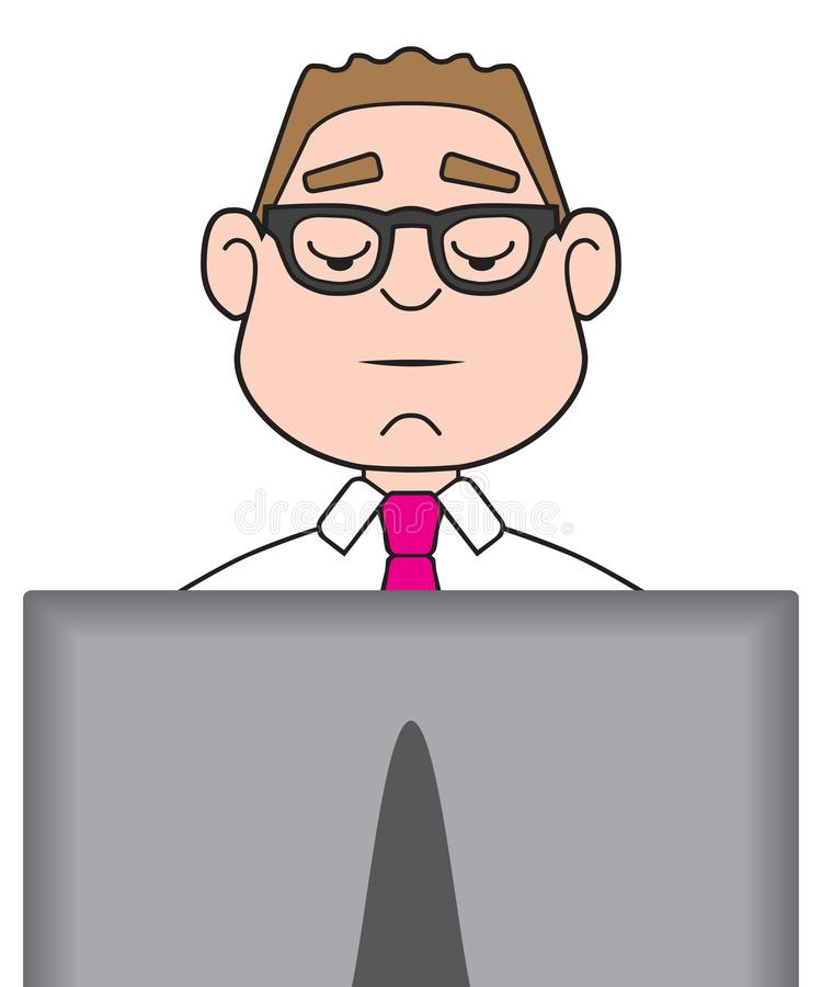 Businessman on Computer royalty free illustration