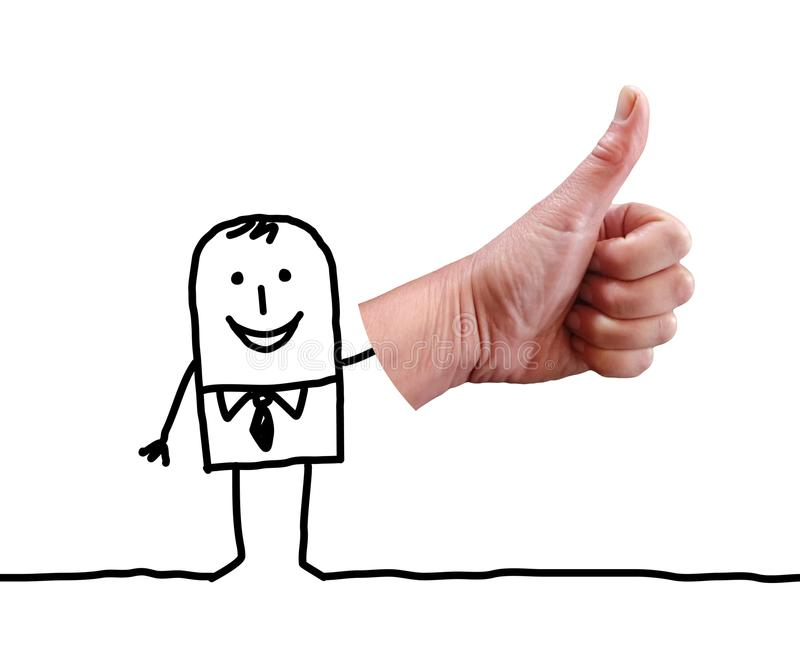 Cartoon Businessman Saying OK with Thumb royalty free stock images