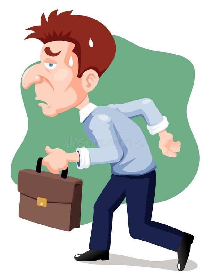 Cartoon businessman tired vector illustration