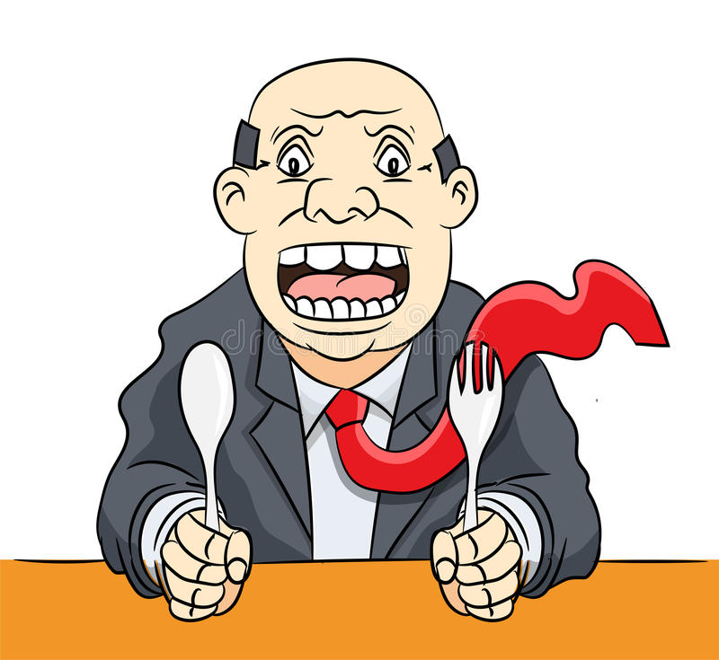 cartoon businessman waiting food vector clipart illustration stock rh dreamstime com clipart hungry caterpillar hungry clipart black and white