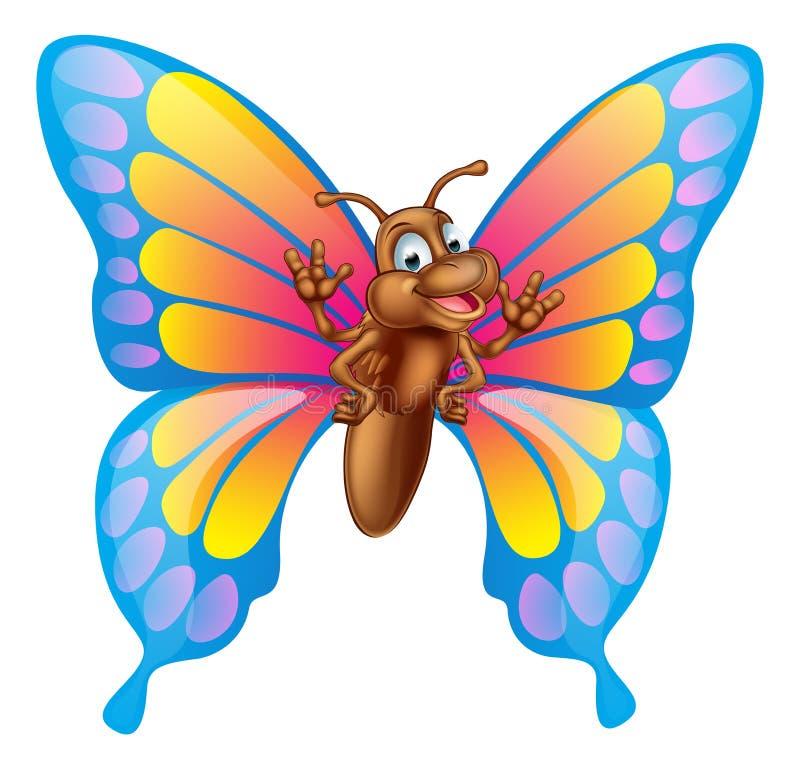 Cartoon butterfly stock illustration