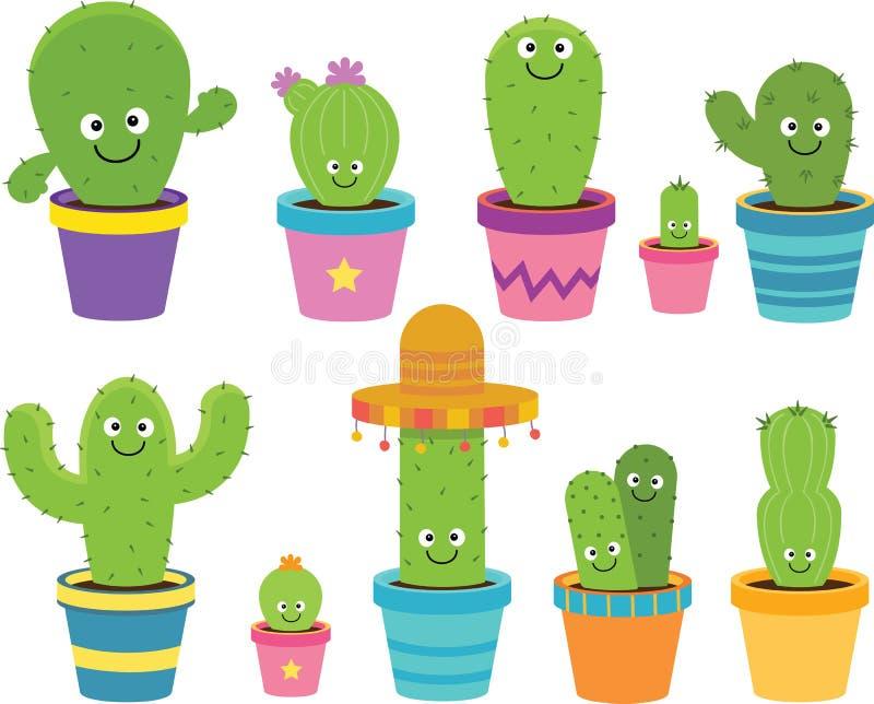 Cartoon Cactus Clipart royalty free illustration