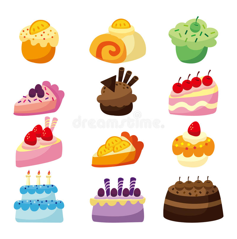 Download Cartoon cake stock vector. Image of cake, fake, fairycake - 17261824
