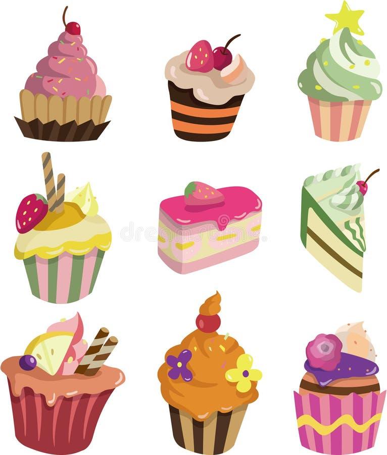Download Cartoon cake stock vector. Image of cake, food, happy - 17346436