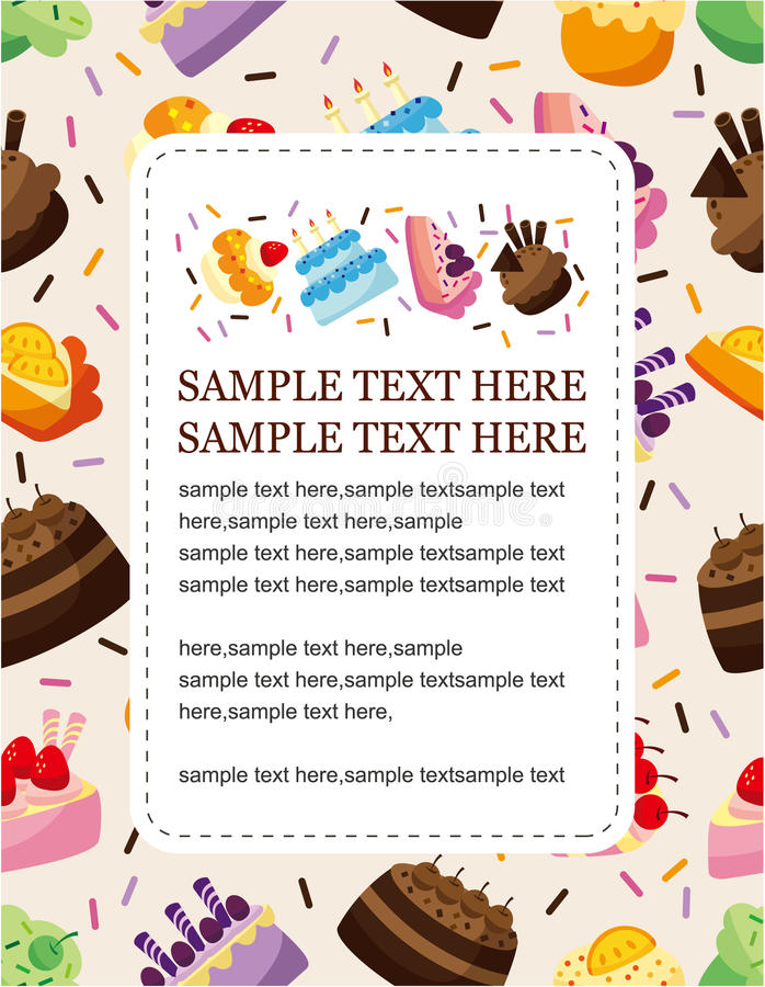 Download Cartoon cake card stock vector. Illustration of cream - 18031014