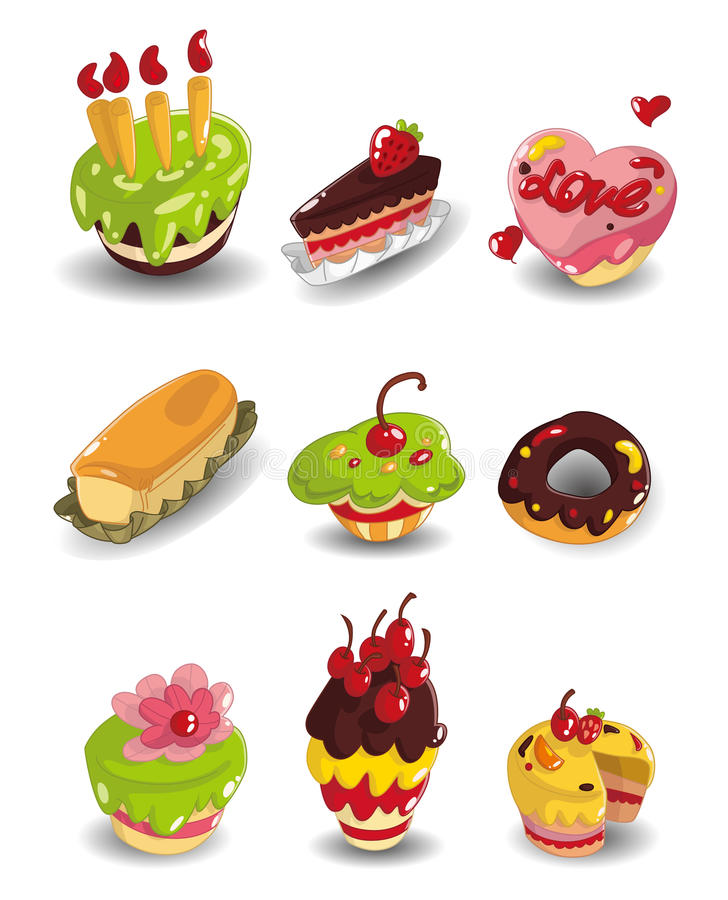 Download Cartoon Cake Icons Set Royalty Free Stock Photo - Image: 20333695