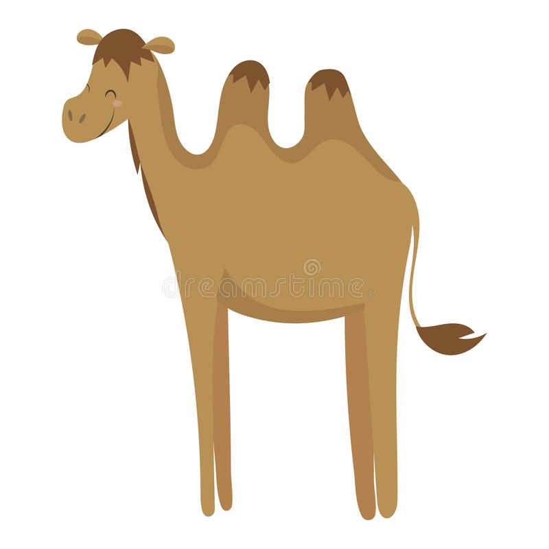 Cartoon camel. Vector illustration of a cute camel. Drawing animal for children. Zoo for kids. vector illustration