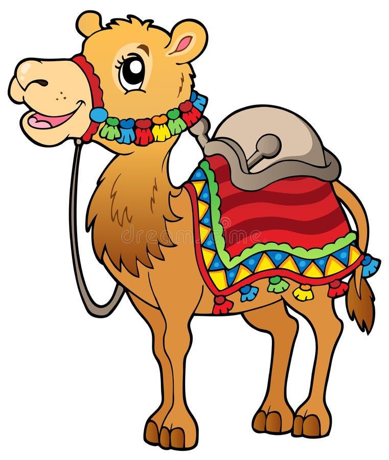 Free Cartoon Camel With Saddlery Royalty Free Stock Photo - 22762975