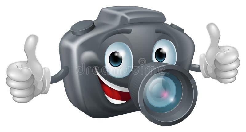Cartoon camera mascot royalty free illustration