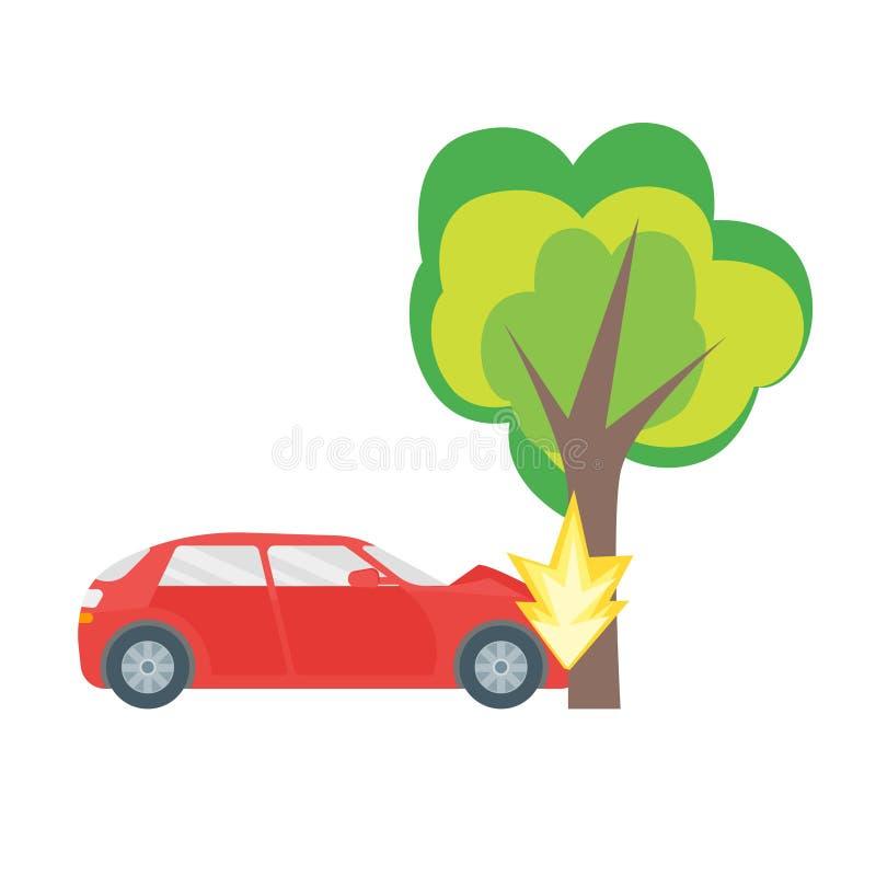 Cartoon Car Crash Road Accident. Vector Stock Vector ...