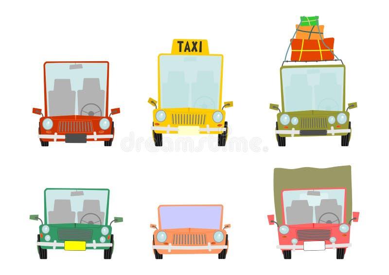 Cartoon car set royalty free illustration