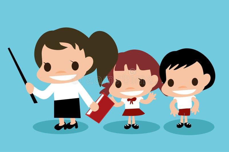 Cartoon Career about teacher and student. stock photography