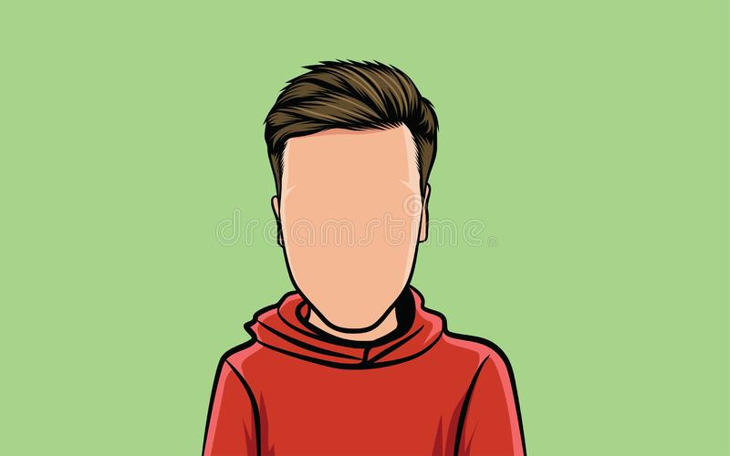 cartoon caricature portrait, and hair style royalty free illustration