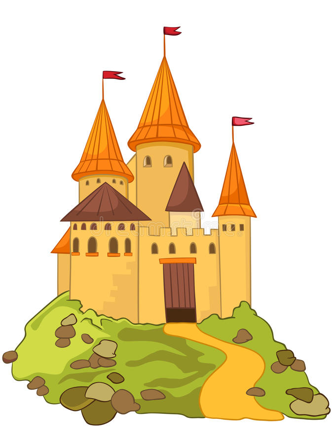 Cartoon Castle royalty free illustration