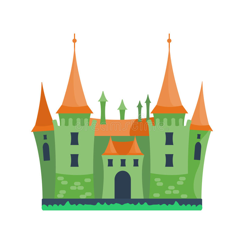 Cartoon castle architecture vector illustration royalty free illustration