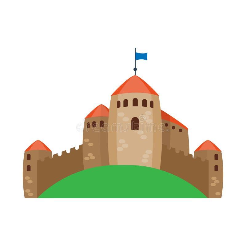 Cartoon castle architecture vector illustration stock illustration