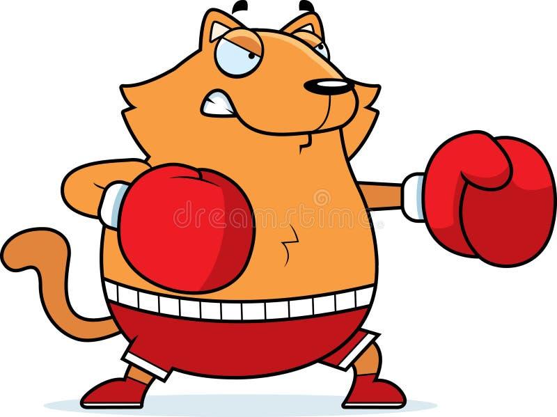 Cartoon Cat Boxing vector illustration