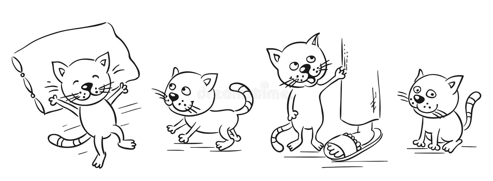 Cartoon cat royalty free illustration