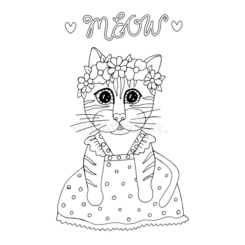 - Cartoon Cat For Coloring Book Or Pages Stock Vector - Illustration Of  Decorative, Isolated: 149607664