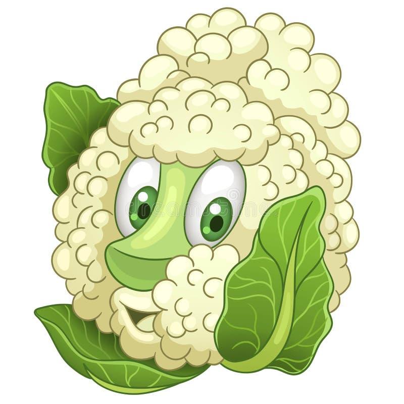 Cartoon Cauliflower character stock images