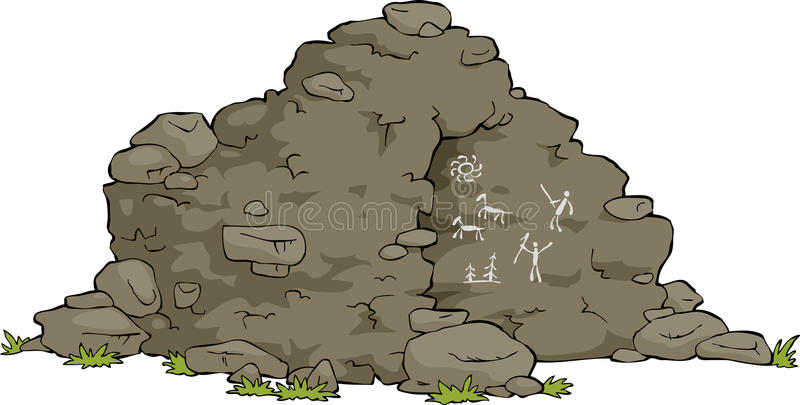 Download Cartoon cave stock vector. Image of cavern, historical - 26173767