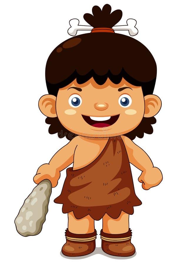 Download Cartoon Cave Boy Stock Image - Image: 27878241