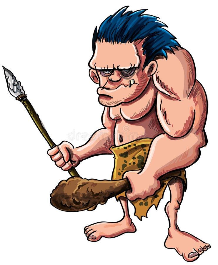 Download Cartoon Caveman Or Troglodyte Stock Illustration - Illustration of isolated, loincloth: 29508071