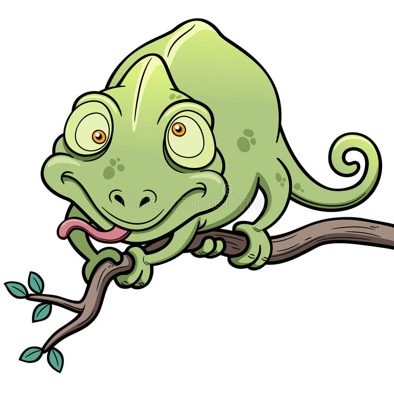 Download Cartoon Chameleon stock vector. Image of cute, graphic - 31653843