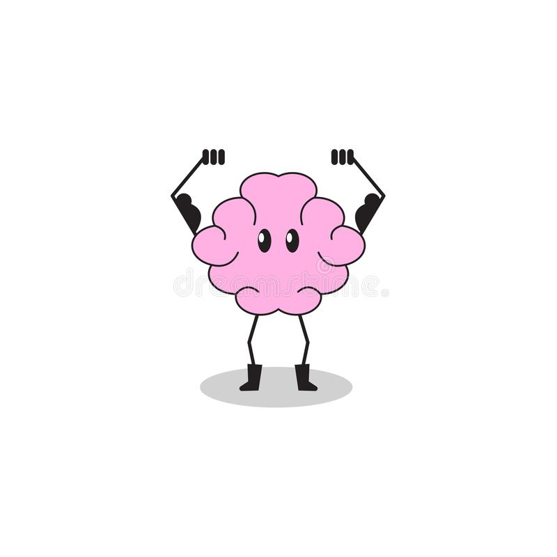 Cartoon character brain vector illustration
