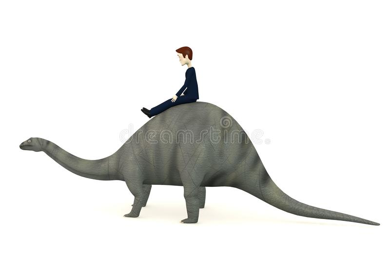 Download Cartoon Character On Brontosaurus Stock Images - Image: 29301854