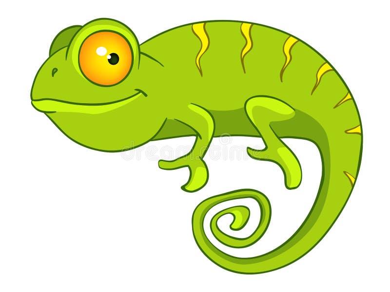 Cartoon Character Chameleon stock illustration