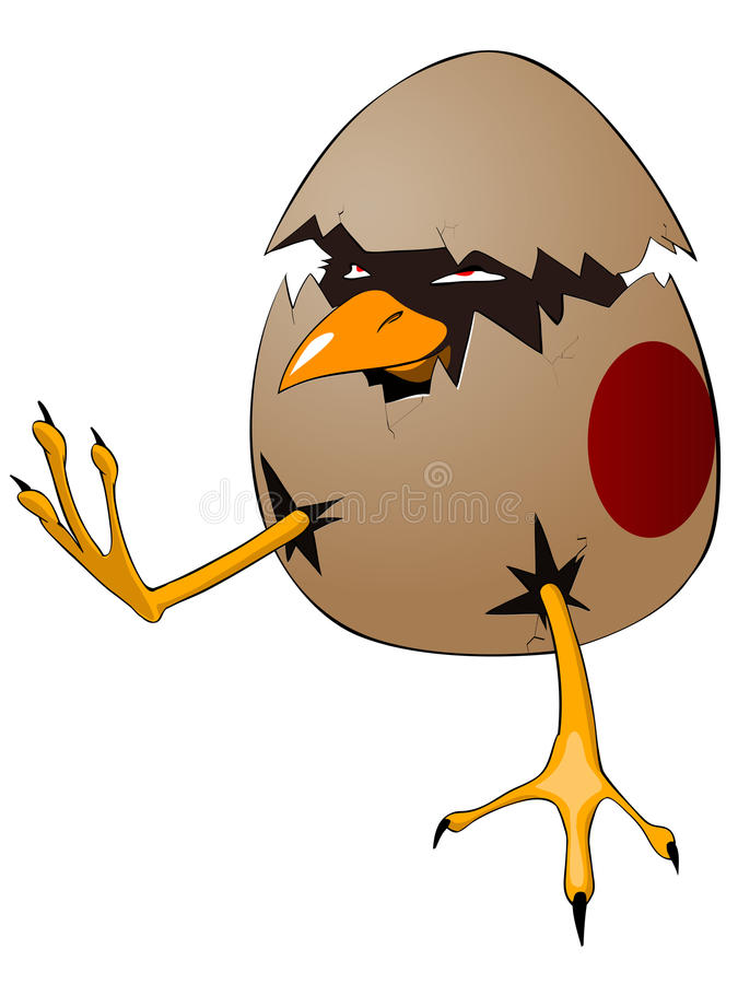Cartoon Character Chick vector illustration