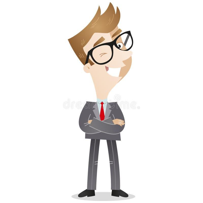 Cartoon Character: Confident businessman