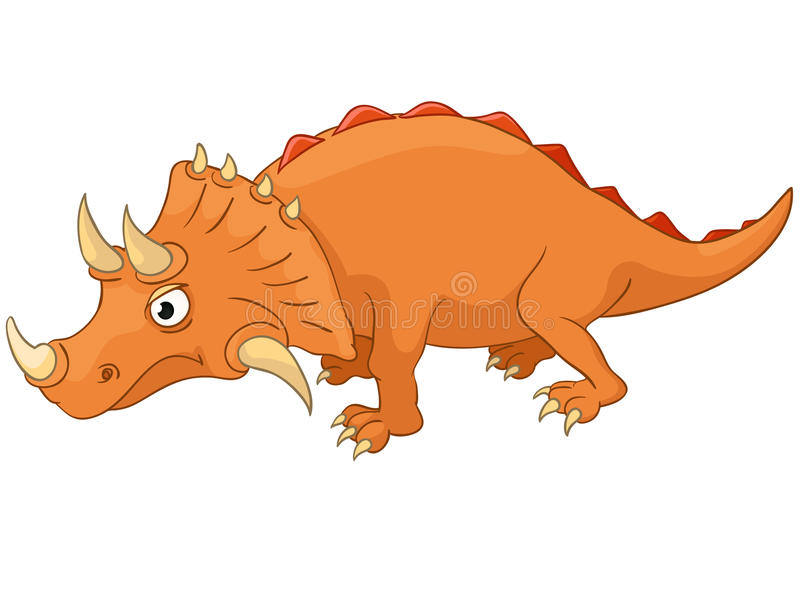 Cartoon Character Dino stock illustration