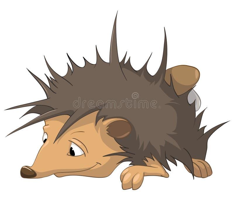 Cartoon Character Hedgehog vector illustration