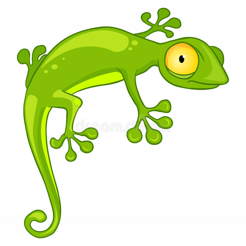 Cartoon Character Lizard royalty free illustration