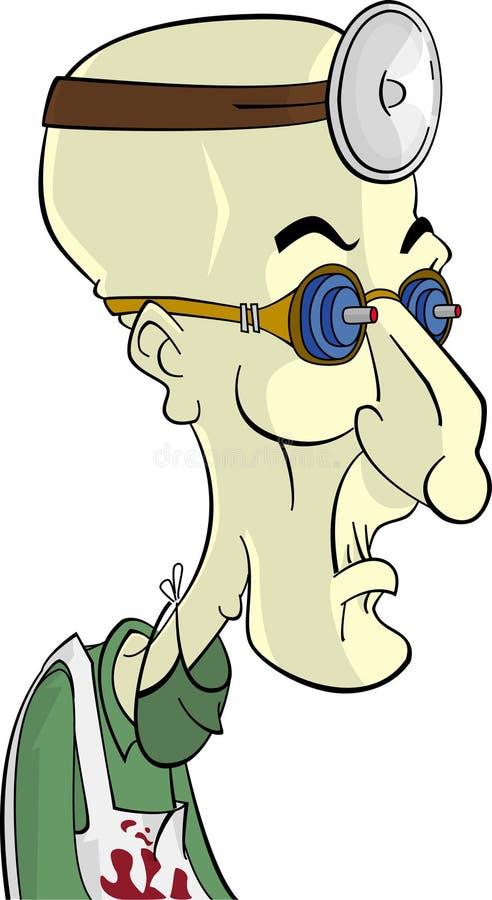 Cartoon character mad scientist vector illustration