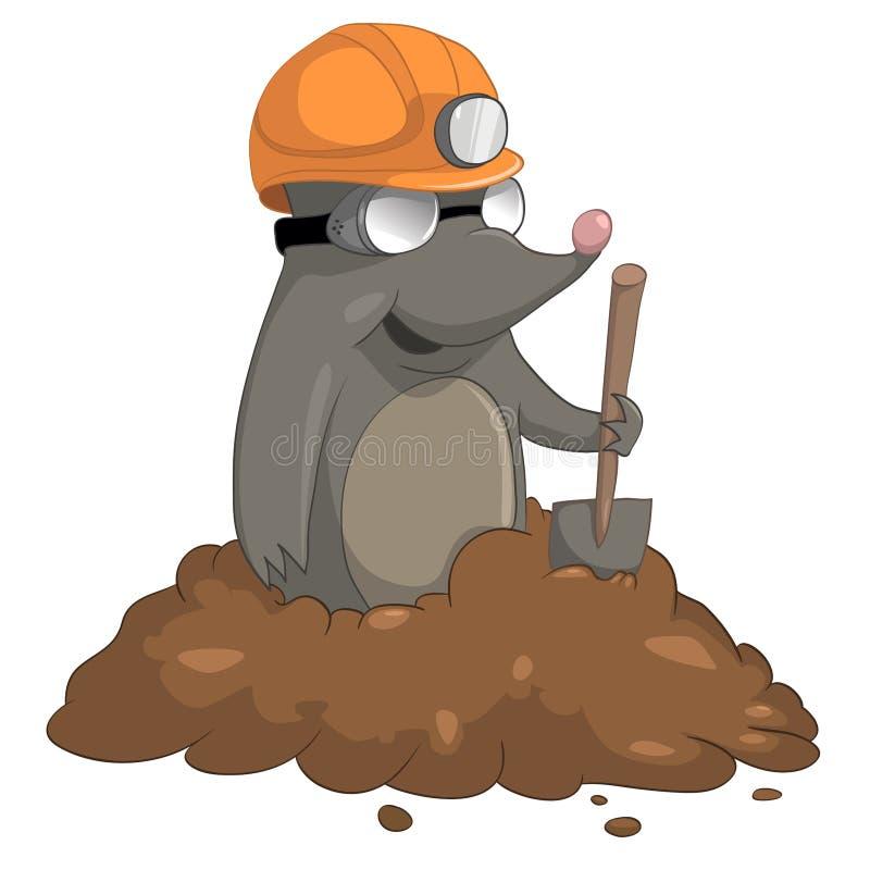 Cartoon Character Mole royalty free illustration