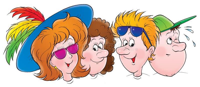 Download Cartoon Character Portraits Stock Illustration - Image: 3016914