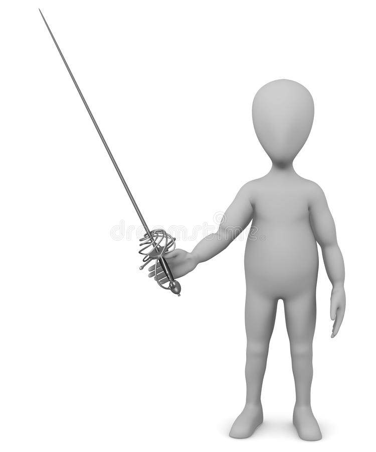 Download Cartoon Character With Rapier5 Stock Illustration - Image: 24589138