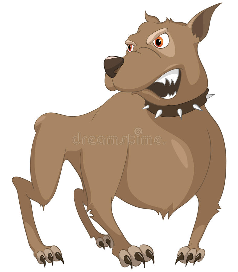 Cartoon Character Sly Dog vector illustration