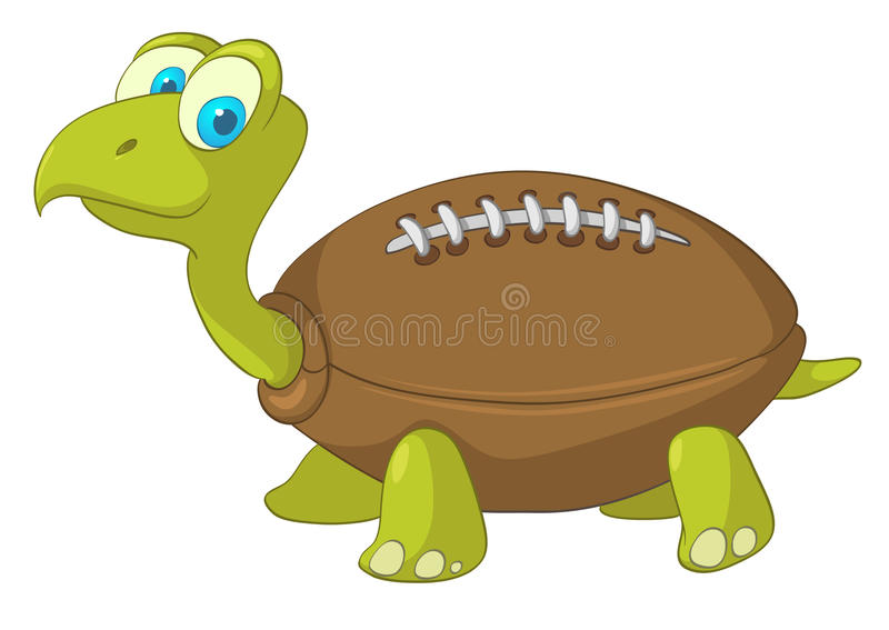 Cartoon Character Turtle royalty free illustration