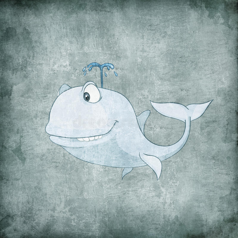 Cartoon Character Whale stock illustration