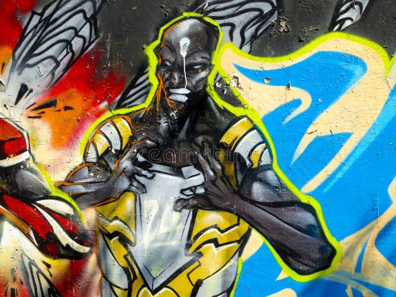 Cartoon characters graffiti stock illustration