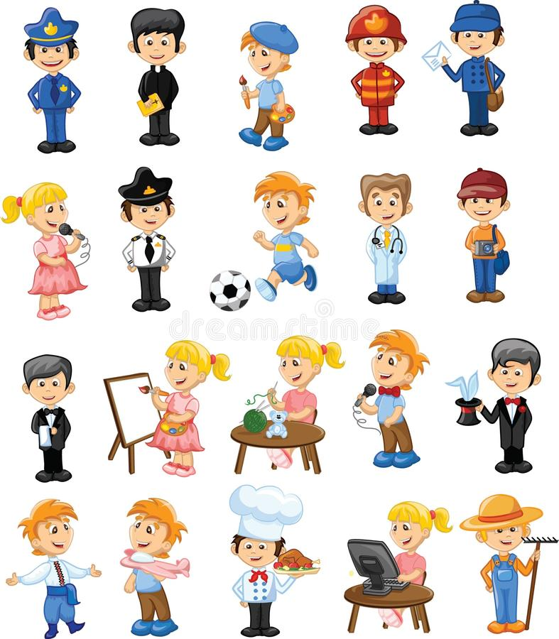 Free Cartoon Characters Of Different Professions,vector Royalty Free Stock Photo - 64876005